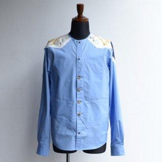 DF TOKYO別注仕様【masao shimizu】 マサオシミズ ベストインシャツ ブルー×ヴィンテージエルメス サイズ3