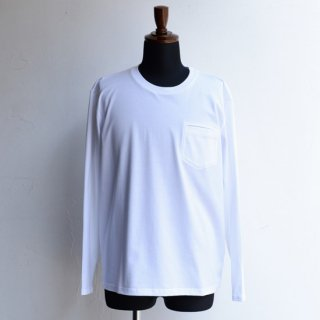 【KAZUKI NAGAYAMA】カズキナガヤマ カットアウトロングスリーブTシャツ ホワイト