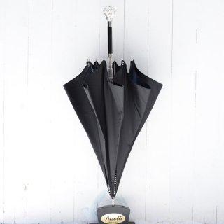 【Pasotti】パソッティ シルバーライオン4ラインスタッズアンブレラ  ブラック 傘