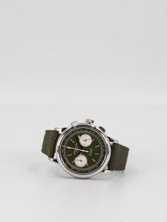 150本限定モデル【CORNICHE】コーニッシュ Heritage Chronograph Vert Militaire 時計