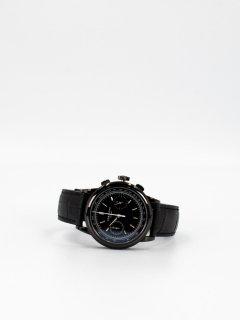 【CORNICHE】コーニッシュ Heritage Chronograph ブラックケース ブラックダイアル ブラックレザー 時計
