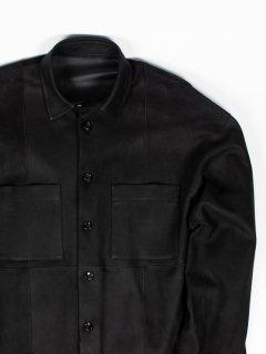 【KAZUKI NAGAYAMA】カズキナガヤマ オーバーサイズレザーシャツ