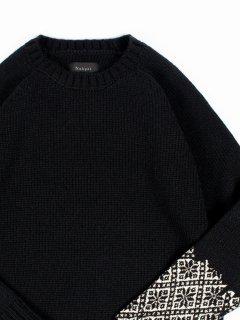 wegenk別注【Nahyat】ナヤット n-040 3Gセーター ブラック