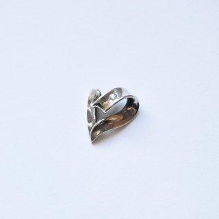【r.l.d】シルバー ribbon heart top with stone