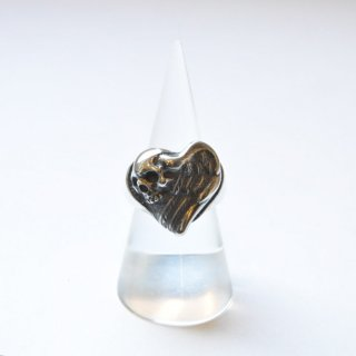 【r.l.d】シルバー WING HEART with SKULL RING
