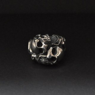 【Rat Race】ラットレース TWO FACE TAO SKULL RING L