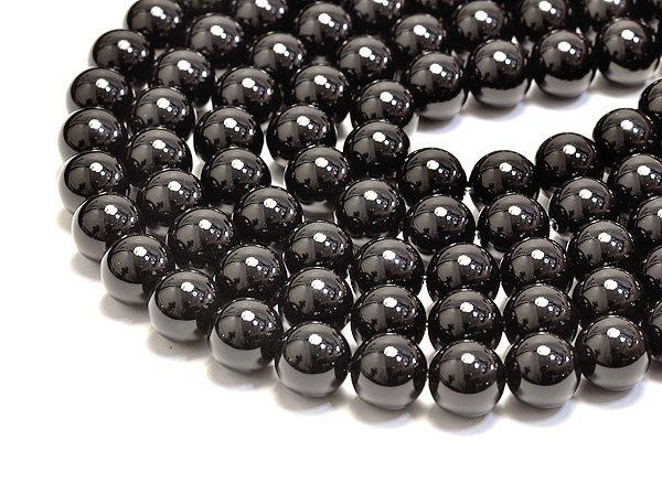 ★ブラックオニキス(3A)10mm/ラウンド-1連
