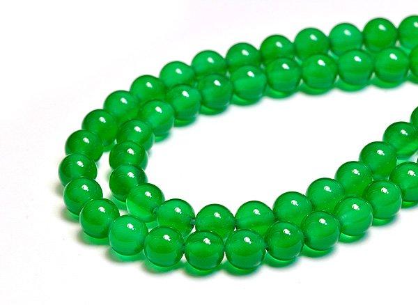 ★グリーンアゲート(3A)※緑めのう6mm<BR>ラウンド-1連