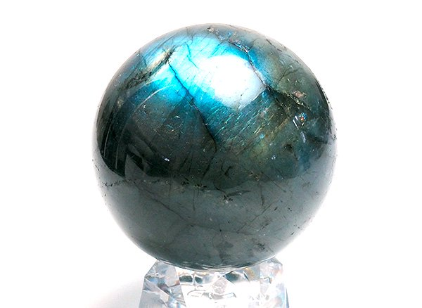 原石<br>ラブラドライトのスフィア 直径約50mm<br>マダガスカル産