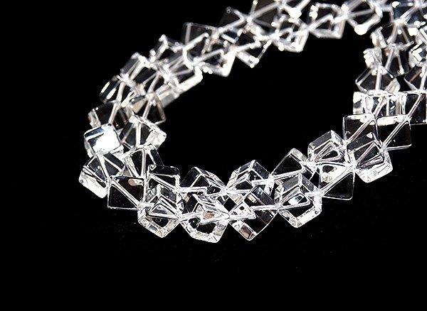 ★クリスタル水晶(SA)10×10×10mm<BR>ダイス-1連
