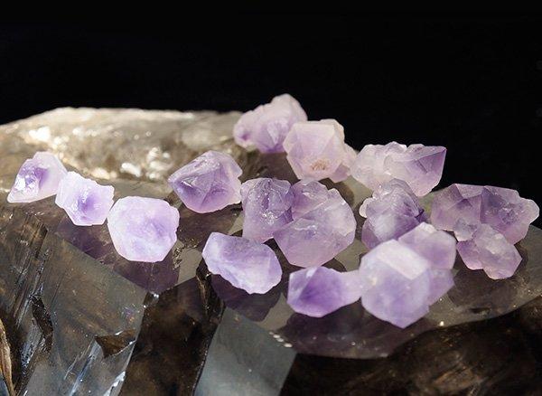 ★原石<br>ミニ・シリウスアメジストの結晶ポイントセット50g<br>ケニア産