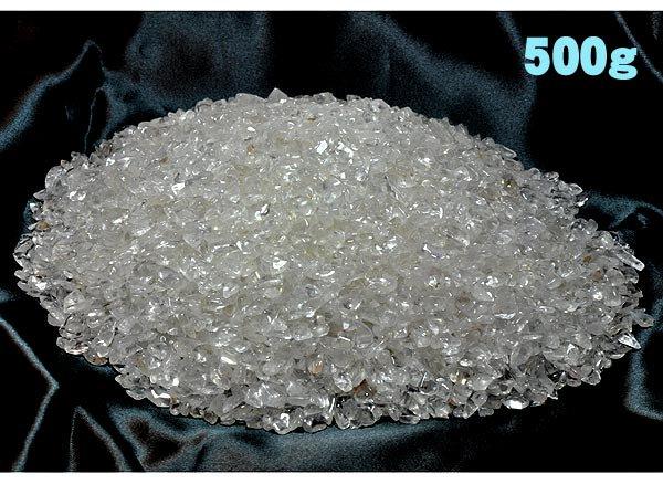 ★ヒマラヤ産水晶 浄化用さざれチップ(穴なし) 500g