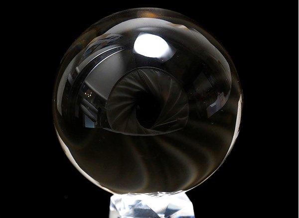 ★原石<br>クリスタル・スフィア直径約65.5mm(100%天然無垢・無色透明無傷の水晶丸玉)<br>ブラジル産