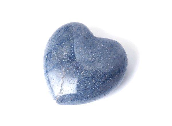 原石<br> ブルーアベンチュリンのハート<BR>インド産
