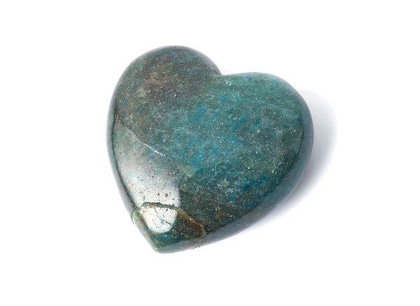 原石<br> ブルーグリーンアベンチュリンのハート<BR>インド産