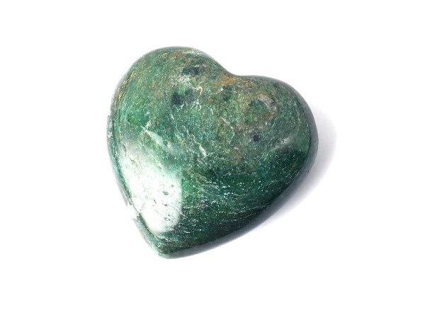 原石<br> グリーンアベンチュリンのハート<BR>インド産