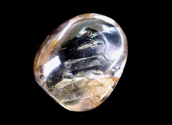 原石<BR>ヒマラヤ エレスチャルクォーツのペブル(水入り)<BR>インド ヒマーチャル プラデーシュ州バルギ鉱山産