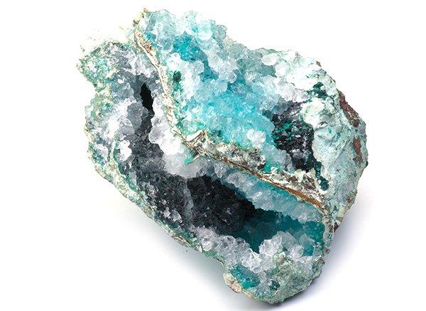原石<br>ジェムシリカ(シリシファイドクリソコラ)<br>ペルー・リリー産