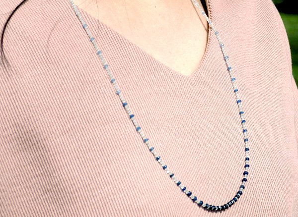 ★20000円➡50%OFF!! 高級天然石ロングネックレス !! プレナイト/ブラジル産宝石質カイヤナイト70cm