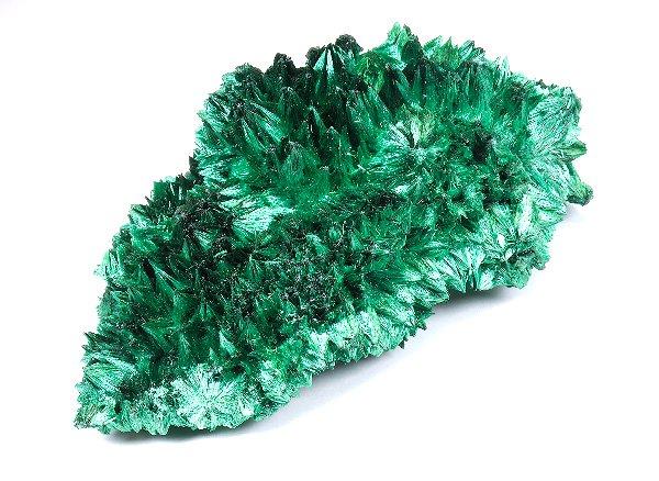 美しすぎる原石<br> マラカイトの結晶<br>ザイール・シャバ産