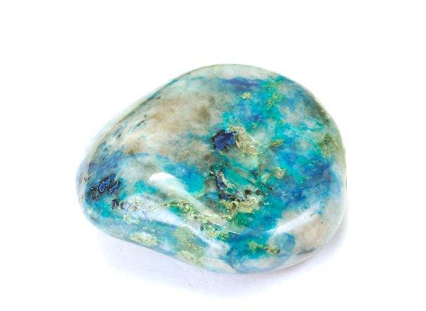 アースカラーの美しい原石<br>クォンタムクアトロシリカのタンブル<br>ペルー・リリーマイン産
