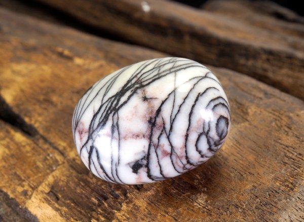 原石<BR>ゼブラジャスパーのタンブル<br>アメリカ産