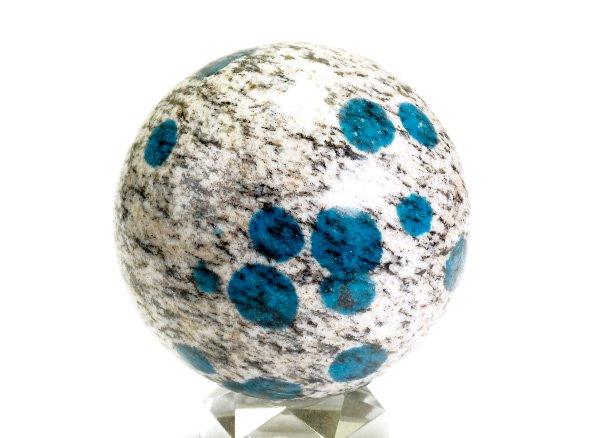 世界第2位であるK2のみで産出される石<br>ヒマラヤK2ブルー(グラナイトインアズライト)のスフィア(丸玉)<br>パキスタン・ギルギット・バルティスタン州