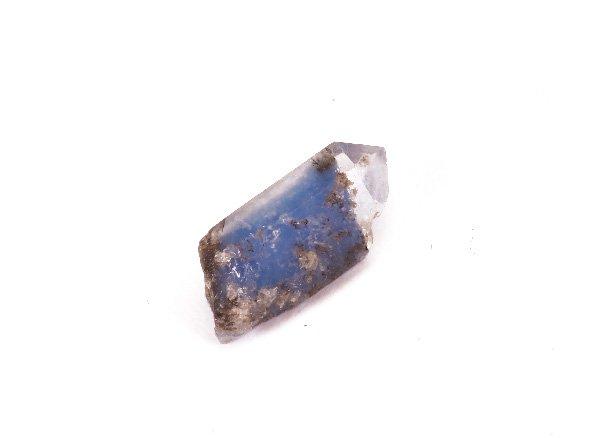 大変稀少!!濃いブルーのクォーツ<br>デュモルチェライト・イン・クォーツの原石<br>ブラジル・バイーア州ヴァッカ・モルタ産