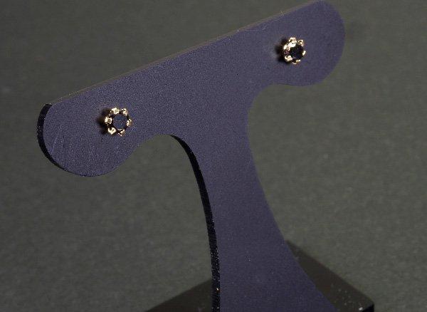 ★スペシャルキャンペーンプライス!! <br>4月の誕生石 漆黒の美しさが際立つブラックダイヤモンド18KYGピアス