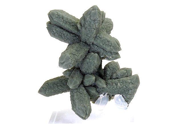 希少原石<BR>プラゼムグリーンクォーツのポイント<BR>中国内モンゴル自治区赤峰市皇崗産