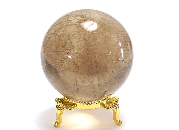 原石<br>スモーキールチルクォーツのスフィア(丸玉)直径約54mm<br>ブラジル・バイア州・ノーヴォオリゾンテ産