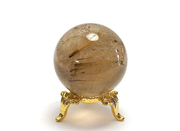 原石<br>スモーキールチルクォーツのスフィア(丸玉)直径約39mm<br>ブラジル・バイア州・ノーヴォオリゾンテ産