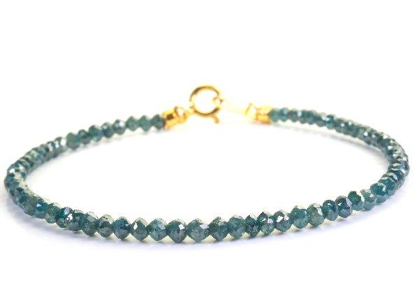 高級ブレスレット<BR>ブルーダイヤモンド(10.5ct)SVブレスレット<BR>南アフリカ産