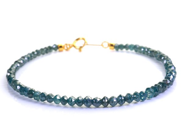 高級ブレスレット<BR>ブルーダイヤモンド(12.25ct)SVブレスレット<BR>南アフリカ産