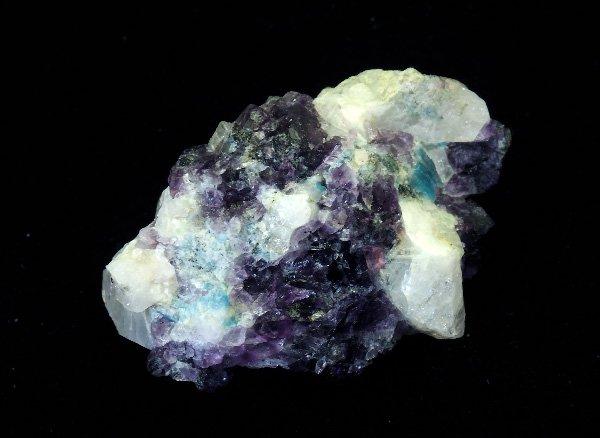 稀少原石<br>フェナサイト(フェナカイト)とフローライトの原石<BR>ロシア ウラル マリシェボ産超