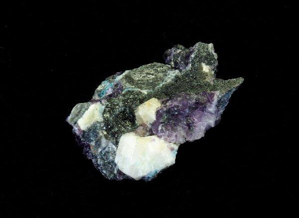 稀少原石<br>フェナサイト(フェナカイト)とフローライトの原石<BR>ロシア ウラル マリシェボ産