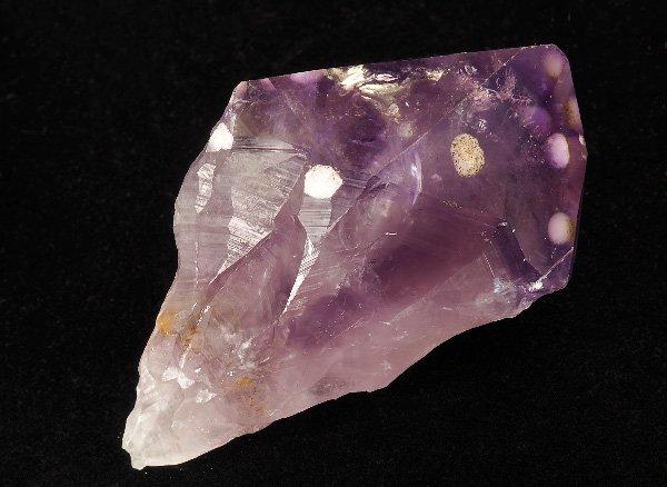 原石<br>クリストバライト(方珪石)入りアメジストのポイント<br>ブラジル・リオグランデ・ド・スル州アメチスタ産