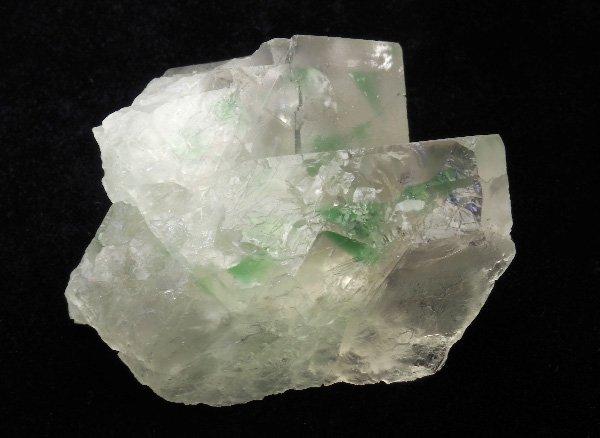 原石<br>エメラルドグリーンフローライト・ダブルポイントの結晶<br>コロンビア・ボヤカ産