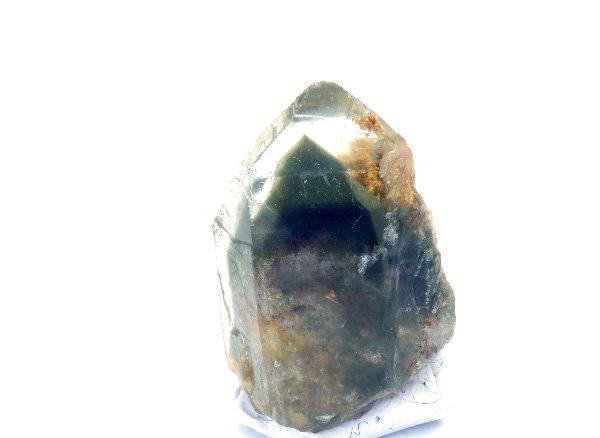 原石<br>フラワールチル入りガーデンダブルファントムクォーツのポイント<br>ブラジル ミナスジェライス州ディアマンティーナ産