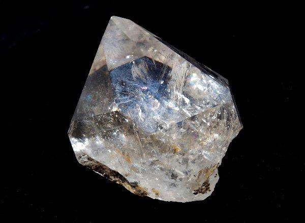 ★原石<br>レインボーハーキマーダイヤモンド(両剣水晶)/ニューヨーク州ハーキマー産