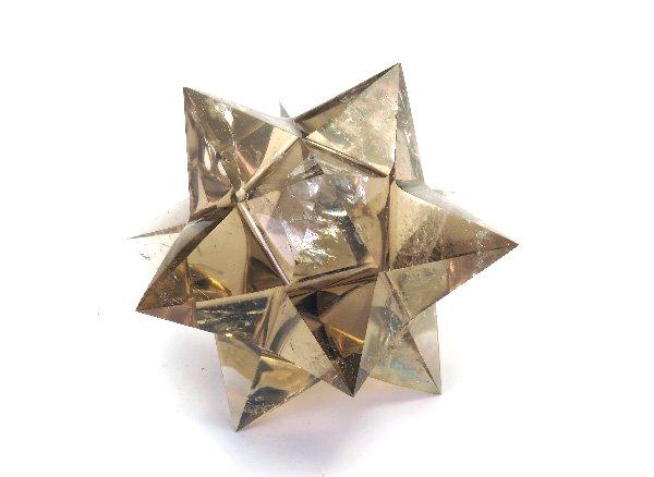 小星型十二面体アステロイド<br>スモーキークォーツ<br>ブラジル・ミナスジェライス州産