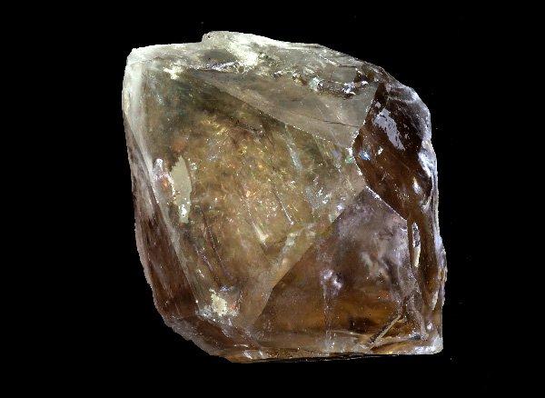 メチャカッコイイ原石<BR>スモーキーレインボーエレスチャルDTクォーツのポイント(水入り)<BR>ブラジル・ミナスジェライス州・アラスアイ産
