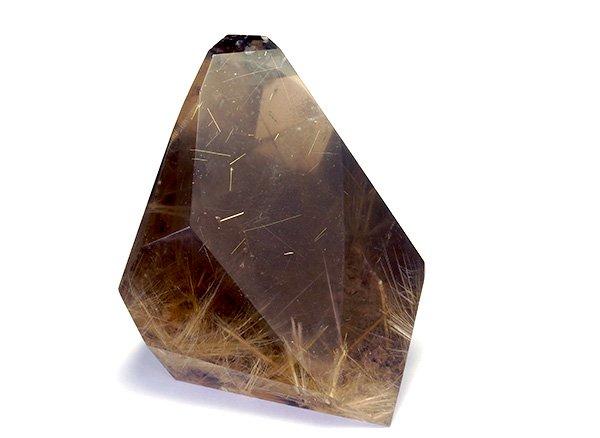 原石<br>スモーキールチルクォーツのポイント(磨き)<br>ブラジル・バイーア州産