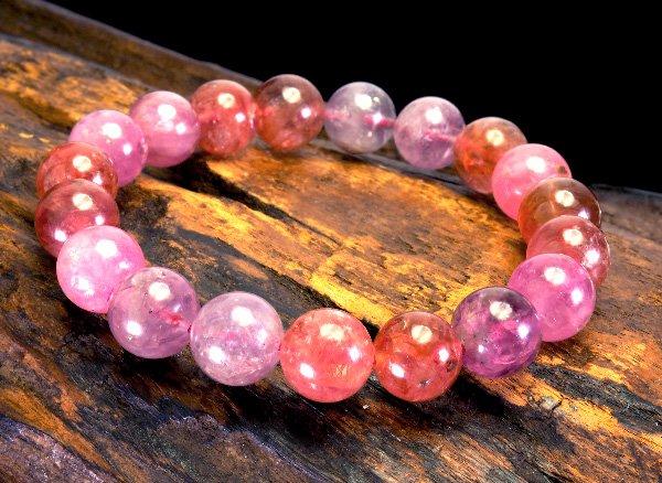 高級ブレスレット!!<br> 大きくて魅惑的なピンクスピネルのブレスレット11mm(19粒)<br>ミャンマー産