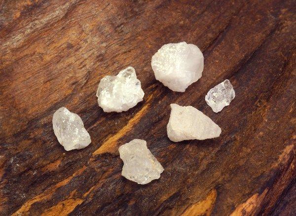 超稀少原石<br>フェナサイト(フェナカイト)のミニ原石6個セット<BR>ブラジル・ミナスジェライス州ピラシカバ産