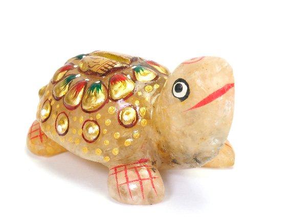 超お買い得!!学問、金運、開運の神様!!<br>ヒマラヤクォーツの亀<br>インド ヒマチャル・プラデシュ州クル産