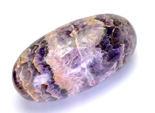 原石<br>シェブロンアメジストのシバリンガム<br>インド産