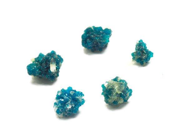 原石<br>カバンサイトの結晶5個パック<br>インド・プーナ・ワゴリ村産