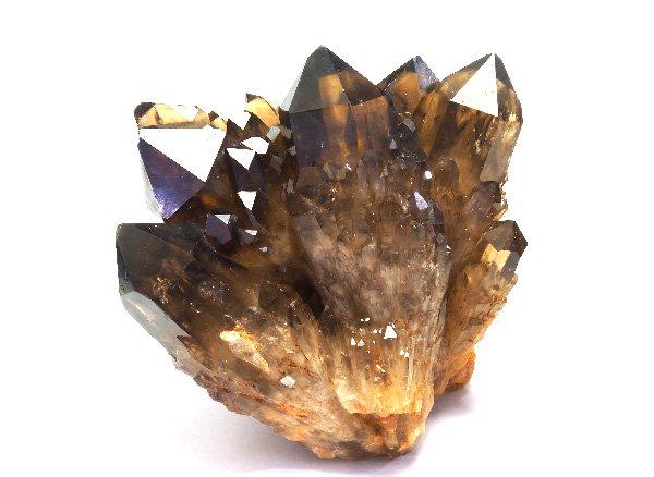原石<br>天然スモーキーシトリンのキャンドルクォーツのポイント群晶<BR>コンゴ産