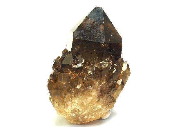 原石<br>天然スモーキーシトリンのキャンドルクォーツのポイント<BR>コンゴ産